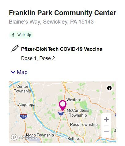 Blueberry Park COVID-19 vaccination center 20210504