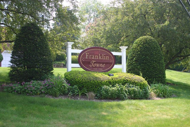 Franklin Towne development sign
