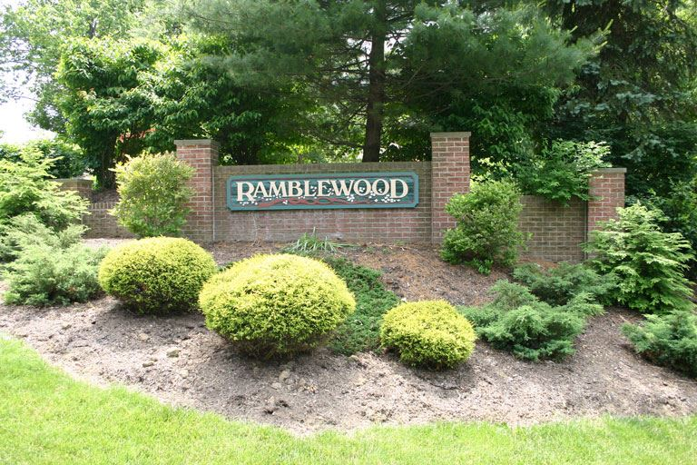 Ramblewood development sign