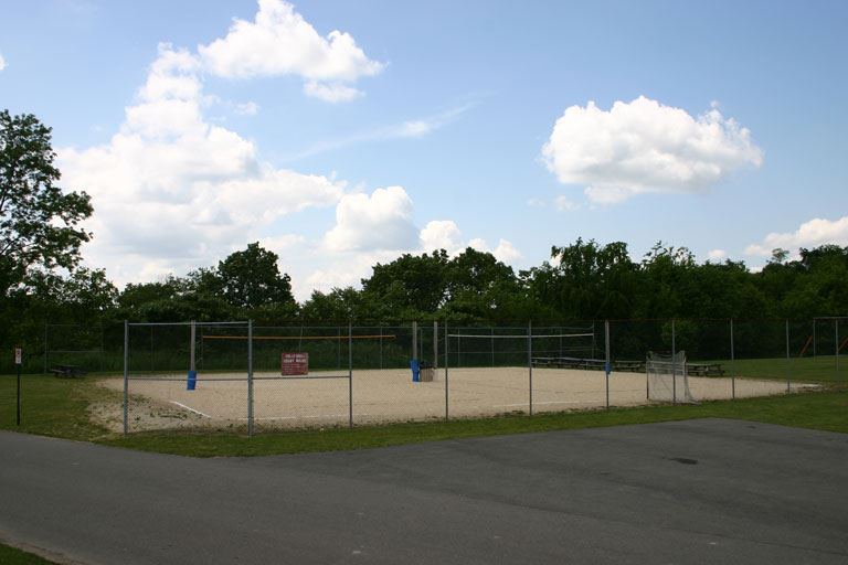 Sand volleyball courts