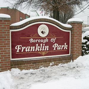 a sign with Borough of Franklin Park on it